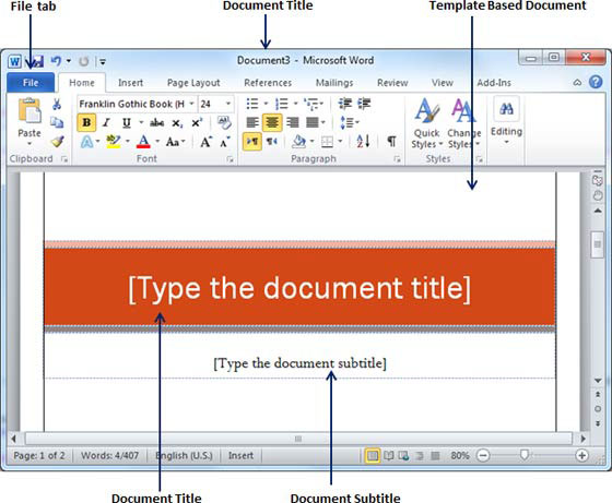ms document format